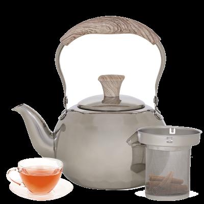 إبريق شاي استيل بمصفى بيد خشبي1.5 لترالسيف غاليري