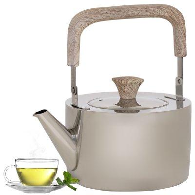 إبريق شاي استيل بيد خشبي1 لتر السيف غاليري