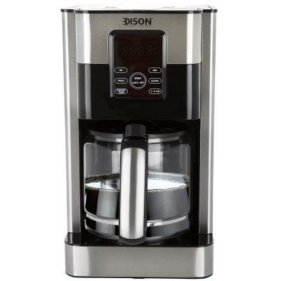 إديسون محضرة قهوة ديجيتال أسود استيل 1.8 لتر