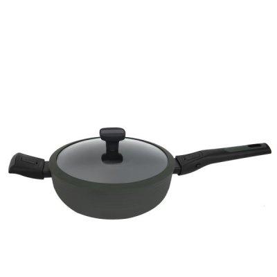 روبوست قدر طبخ أخضر بيد متحركة