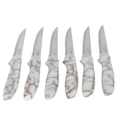 طقم سكاكين مموج رخامي 6 قطعة السيف غاليري