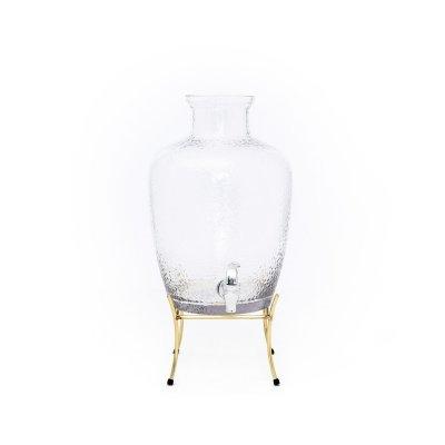مبرد عصير زجاج بقاعدة استيل ذهبي