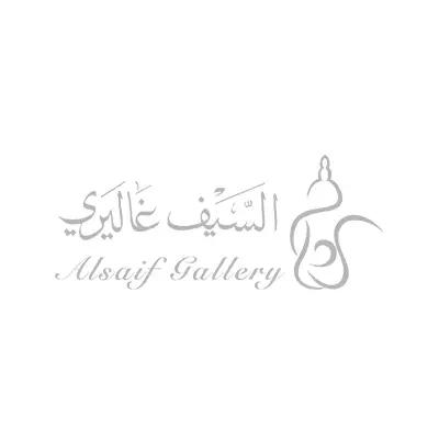 السيف غاليري طوفرية بيضاوي بنقشة سمبلة زجاج اسود مذهب