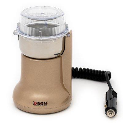 إديسون مطحنة قهوة بشاحن سيارة ذهبي 180 واط
