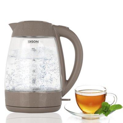 إديسون غلاية ماء زجاج 2200 واط
